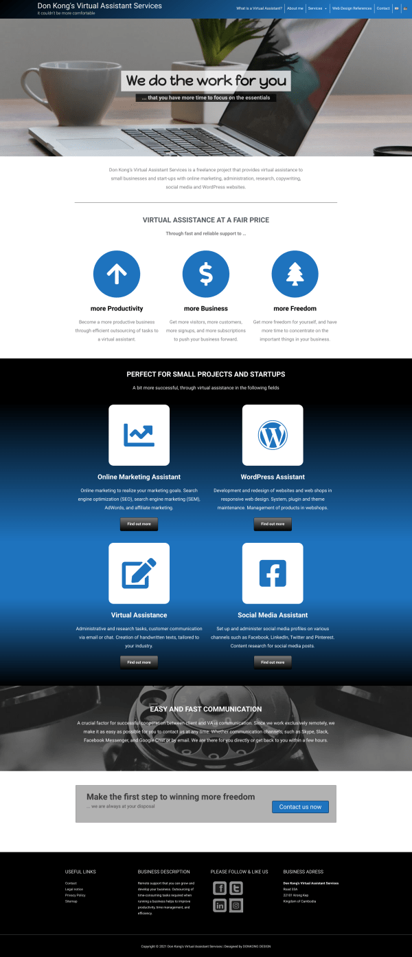 Responsive website design for all kinds of businesses.