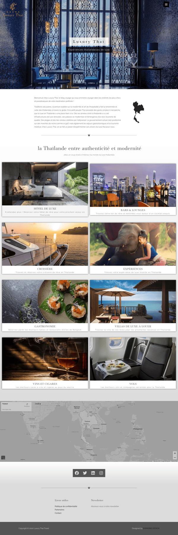 WordPress web design and development for professional travel websites.