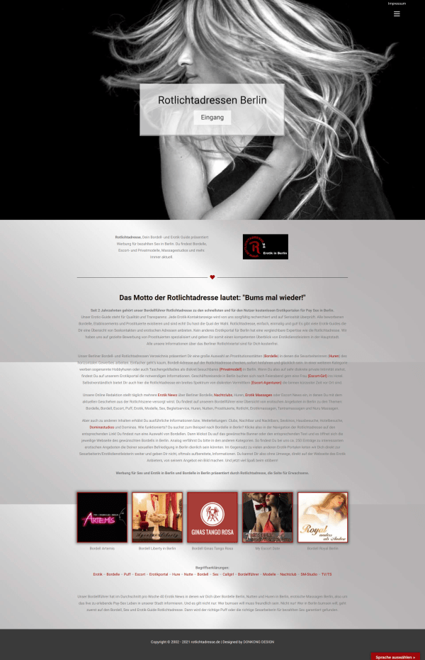 Directory created in responsive web design with WordPress.